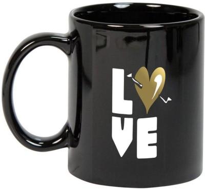 Prithish Love & Kisses Black Ceramic Mug