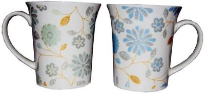 SNYTER Green & Blue Flower Magic Ceramic Mug