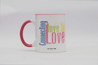 The Values Store Connecting Love to Love Ceramic Mug