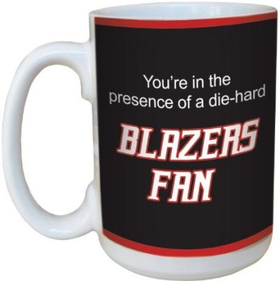 Tree-Free Greetings Greetings lm44164 Blazers Basketball Fan Ceramic  with Full-Sized Handle, 15-Ounce Ceramic Mug