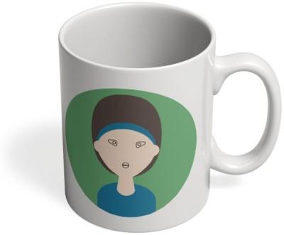 PosterGuy Smart Girl Hair With Face Ceramic Mug