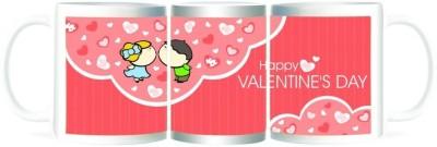 Refeel Gifts Happy Valentines Day Hearts Ceramic Mug