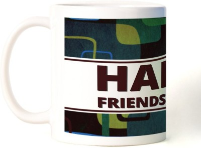 Rockmantra Coll Abstract Happy Friendship Day Art Ceramic Mug