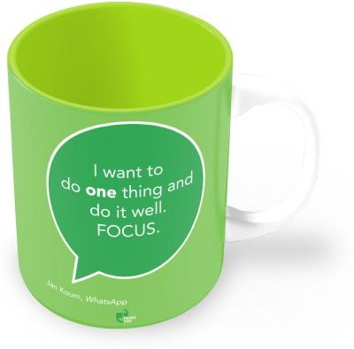 Thinkpot I Want To Do One Thing And Do It Well - Jan Koum, Whatsapp Ceramic Mug