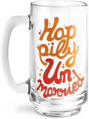 Happily Unmarried HU Fluid Beer Glass Mug