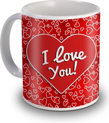 Sky Trends I Love You With Heart Red Moments Gifts For Valentines Ceramic Mug