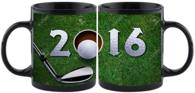 Shoperite Happy New Year Golf Game Ceramic Mug