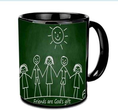 Jiya Creation1 Friends are god,s Gift Multicolor Ceramic Mug
