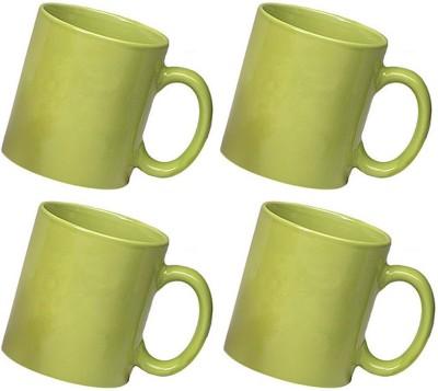 Snapgalaxy Green Combo of 4 pcs Ceramic Mug