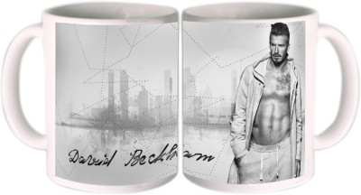 Shopkeeda FIFA 2014 David Beckham Pose Ceramic Mug