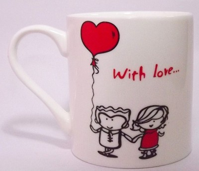 GoodLivingForever With Love Ceramic Tea Coffee  Bone China Mug