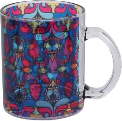 Keep Calm Desi Paisley Clear  Glass Mug