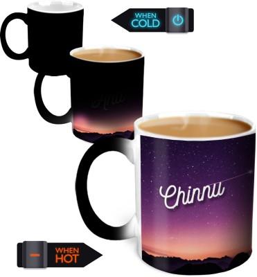 Hot Muggs You're the Magic… Chinnu Magic Color Changing Ceramic Mug(350 ml) at flipkart