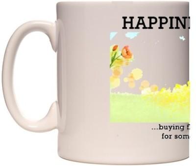 Onlineworld White Coffee Happiness Quote – 04 Ceramic Mug