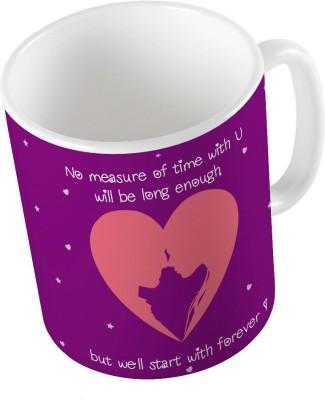 Little India Designer Romantic Purple Coffee  717 Ceramic Mug
