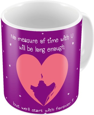 Indiangiftemporium Designer Romantic Purple Coffee  717 Ceramic Mug