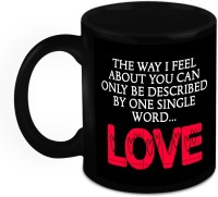 HomeSoGood Gift For Him/Her - My Feelings Can Only Be Described As love Ceramic Mug(325 ml)