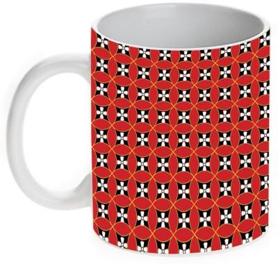 Mugwala Geometric Pattern Printed Ceramic Mug