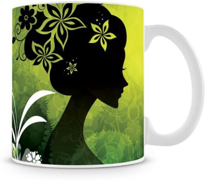 Saledart Mg218-Beautiful And Sweet Fantasy Girl Wallpaper Ceramic Mug