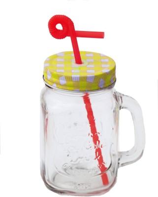 Satyam Kraft Jar with folding Straw Glass Mug