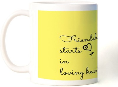 Rockmantra Friendship Starts Happy Friendship Day Ceramic Mug