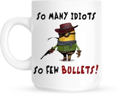 Hainaworld Mini Shooting Idiots Ceramic  Ceramic Mug