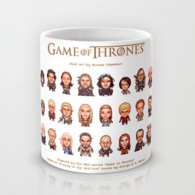 Astrode Game Of Thrones Pixel Art Ceramic Mug
