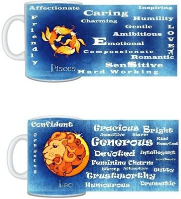 CreativesKart Zodiac Pisces (M) Leo (F) Compatibility  Ceramic Mug