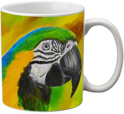 Romanshopping Parrot  Bone China Mug