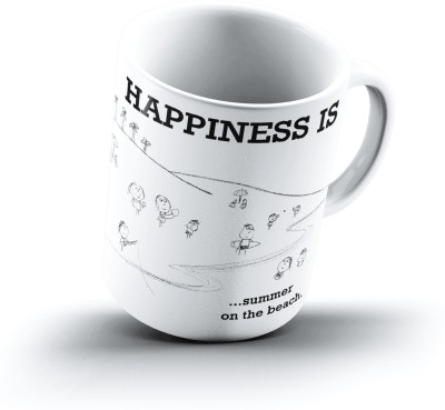Ucard Happiness Is2359 Bone China, Ceramic, Porcelain Mug