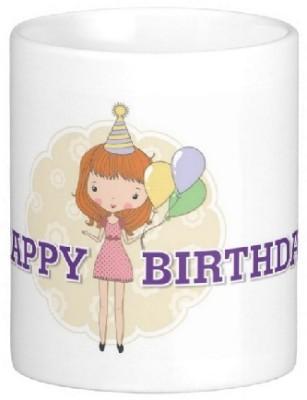 Easyhome Happy Birthday Princess Ceramic Mug