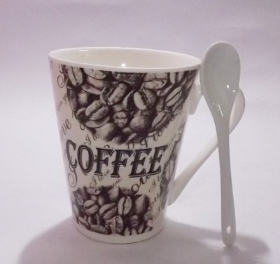 GoodLivingForever Premium Coffee - Beans Love Bone China Mug