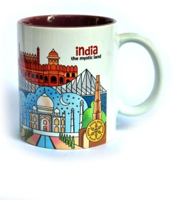 Indiavibes India Mystic Land Theme Printed Ceramic Mug