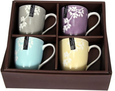 Devnow Stoneware Pastel Charm Four  Collection 300ml Porcelain Mug