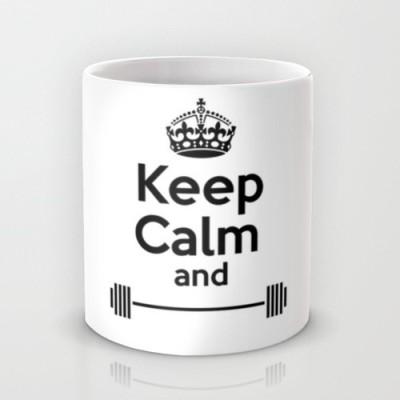 Astrode Keep Calm And Work Out Ceramic Mug