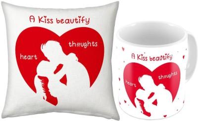 Little India Print White Coffee  n Filled Cushion Pair 228 Ceramic Mug