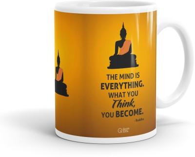 QuoteSutra The Mind is Everything Inspiring Buddha  Ceramic Mug