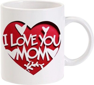 Lolprint I Love You MOM Heart Ceramic Mug