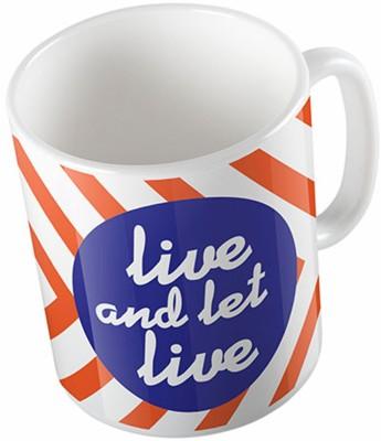 Uptown 18 Live And Let Live Ceramic Mug