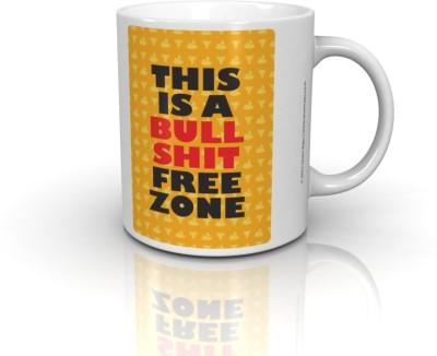 Seven Rays Bull Shit Free Zone Ceramic Mug