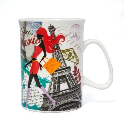 Painting Mantra Paris Fashion City Ceremic Coffee Ceramic Mug