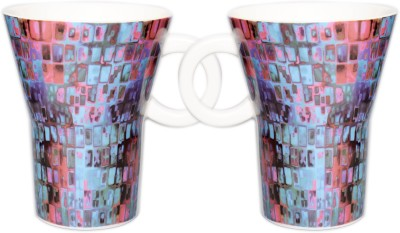 Kudos Cubine Blue (2 Pcs) Ceramic Mug
