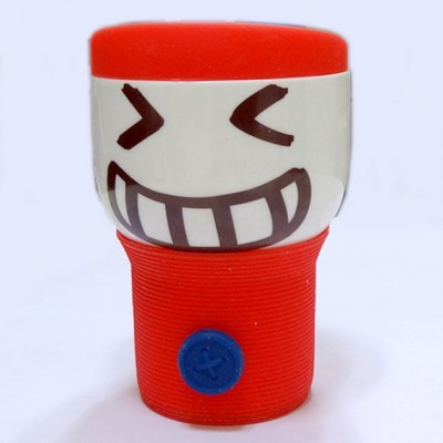 Its Our Studio Button Smiley Silicon Lid Ceramic Mug