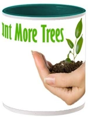 Allthingscustomized Plant Trees (painted inside) Ceramic Mug