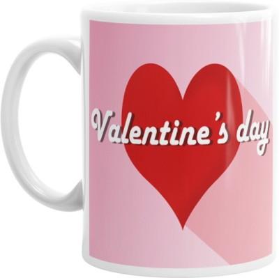 Hainaworld Pink Valetines Day Coffee  Ceramic Mug