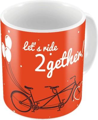 Little India Orange Coffee  n Filled Cushion Pair 335 Ceramic Mug