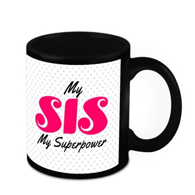 HomeSoGood My Sister Is My Superpower Ceramic Mug