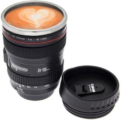 Exciting Lives Camera Lens Sipper Plastic Mug