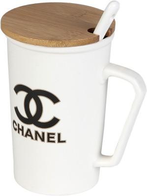 Cosmosgalaxy Ceramic Chanel Ceramic, Wood Mug