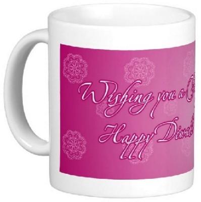 Easyhome Wishing Happy Diwali Ceramic Mug